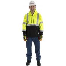 BlazeTex FR Hi-Viz Class III Two-tone Pullover Hooded Sweatshirt
