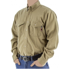95710K - BlazeTex FR Deluxe Button Down Shirt – Khaki
