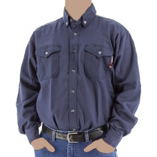 95710N - BlazeTex FR Deluxe Button Down Shirt – Navy