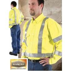 BlazeTex FR Hi-Viz Class III Vented Action Back Button Down Shirt