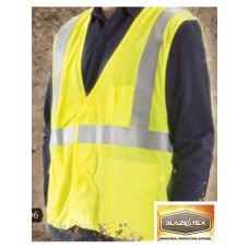 BlazeTex FR High Visibility Class II Deluxe Mesh Safety Vest