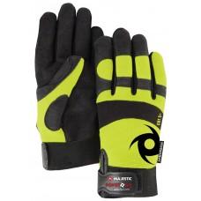 ALYCORE 2/4P, Armor Skin PALM, Yellow KNIT BACK, Velcro Closure, ALYCORE PALM ANSI CUT LEVEL 5
