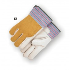 Grain Cowhide Palm & Index Finger, Wing Thumb, Rubberized Safety Cuff