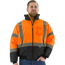 Hi-Viz Waterproof Jacket with Quilted Liner, ANSI 3
