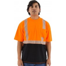 Hi-Viz Shirt with Reflective Chainsaw Striping, ANSI 2