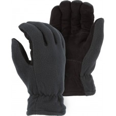 Winter Lined Deerskin Drivers Glove With Fleece Back
