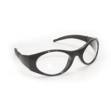Stingers Eyewear - Clear Lens, Black Frame w Polybag