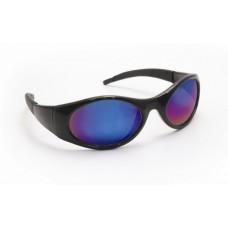 Stingers Eyewear -Blue Mirror Lens, Black Frame w Polybag