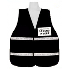 Black Incident Command Vest