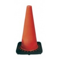 "18"" Safety Cone Brilliant Fluorescent Red-Orange with UV Inhibitor"