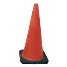 "28"" Safety Cone Brilliant Fluorescent Red-Orange with UV Inhibitor"
