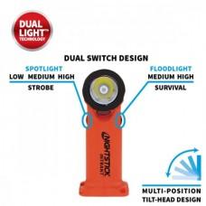 Angle Light Intrinsically Safe Dual-Light - 3 AA Batteries