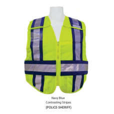 Lime (Police) Public Safety Vest with contrasting stripes