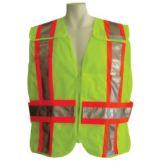 Lime (Fire) Public Safety Vest with contrasting stripes