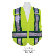 Lime (EMT) Public Safety Vest with contrasting stripes
