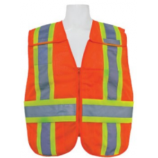 Orange (Fire) Public Safety Vest with contrasting stripes