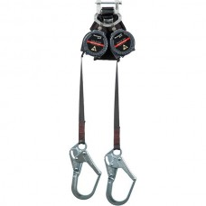 Miller TurboLite Max Smooth Edge 6 foot Personal Fall Limiter with Twin Steel Locking Rebar Hooks