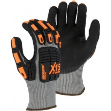 X-15® Cut & Impact Resistant w Nitrile Coating, A6 Cut