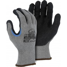 Cut-Less Watchdog® Knit Glove With Crinkle Latex Palm